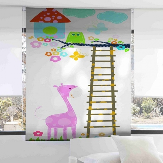 Estor Infantil Jirafa 1079 - Zebra Textil