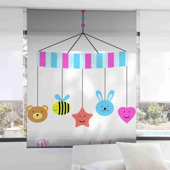 Estor infantil Carrusel 1082 - Zebra Textil