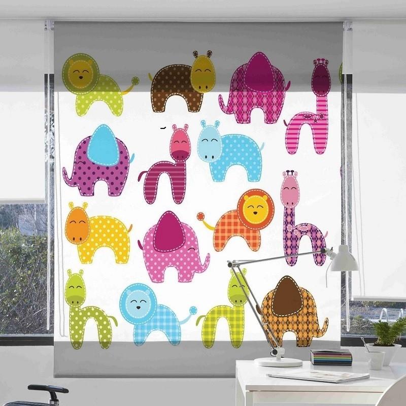 Estor Infantil Zoo 2052- Zebra Textil
