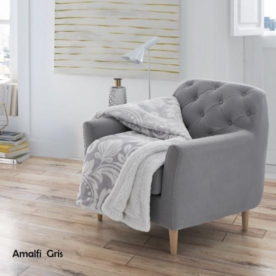 PLAID AMALFI A 1023 - PIELSA COLOR GRIS CLARO