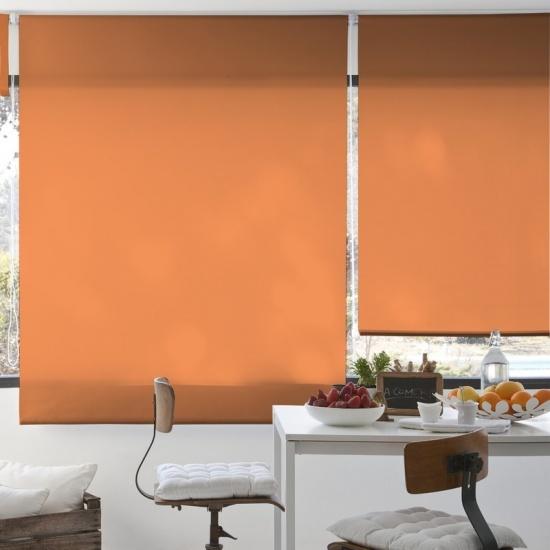 Estor Liso Translucido Naranja